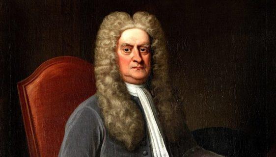 Pintura de Isaac Newton na meia idade