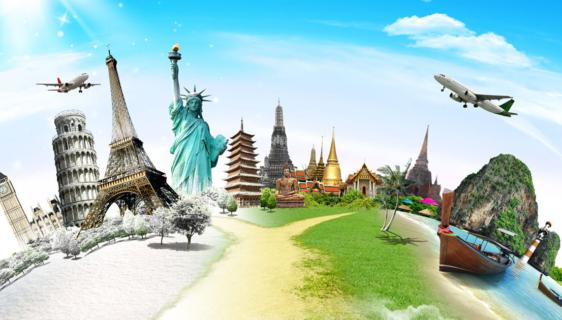 Imagens de pontos turísticos do mundo todo onde se pode fazer intercâmbio