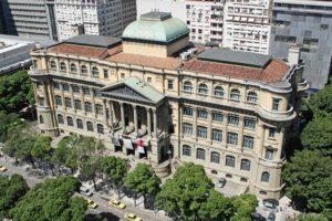Foto da biblioteca nacional do Rio de Janeiro