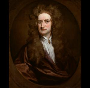 Retrato de Isaac Newton na meia-idade, óleo sobre tela de Sir Godfrey Kneller concluído em 1702